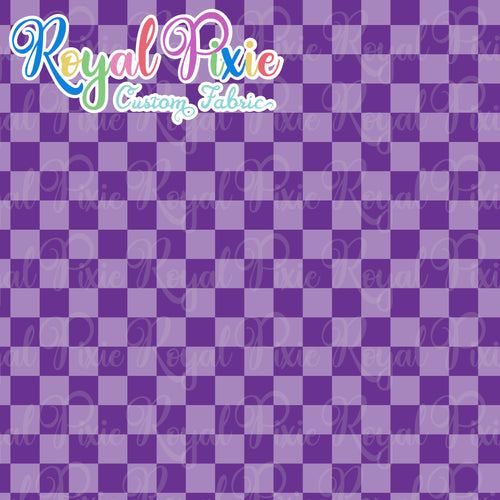Permanent Preorder - Squares (Checkerboard) - Monochrome Purple - RP Color