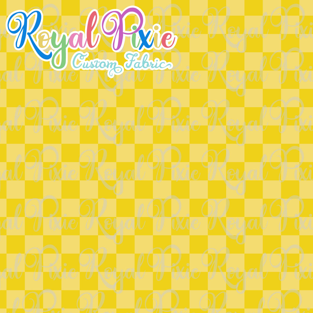 Permanent Preorder - Squares (Checkerboard) - Monochrome Yellow - RP Color