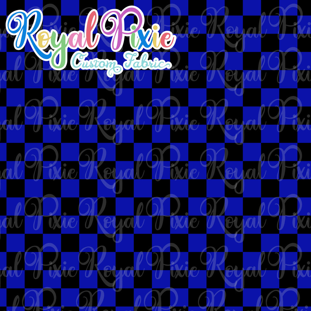 Permanent Preorder - Squares (Checkerboard) - Black/Blue - RP Color