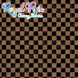 Permanent Preorder - Squares (Checkerboard) - Black/Brown - RP Color