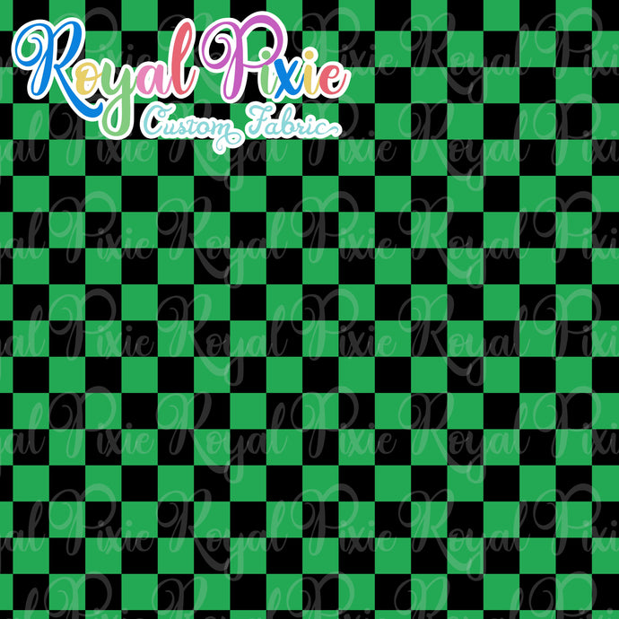 Permanent Preorder - Squares (Checkerboard) - Black/Green - RP Color