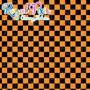Permanent Preorder - Squares (Checkerboard) - Black/Orange - RP Color