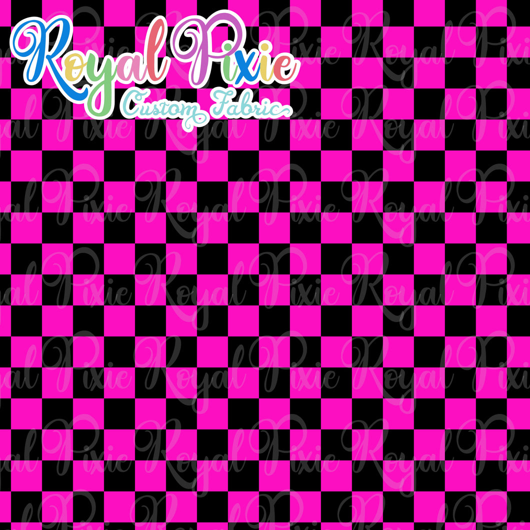 Permanent Preorder - Squares (Checkerboard) - Black/Pink - RP Color