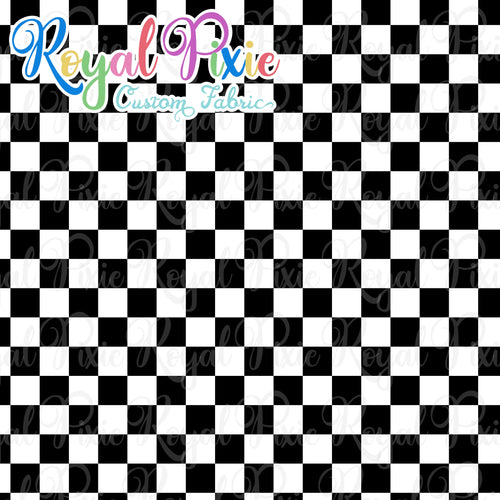 Permanent Preorder - Squares (Checkerboard) - Black/White - RP Color