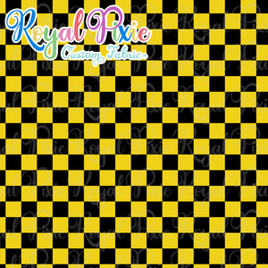 Permanent Preorder - Squares (Checkerboard) - Black/Yellow - RP Color