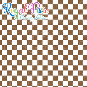 Permanent Preorder - Squares (Checkerboard) - White/Brown - RP Color