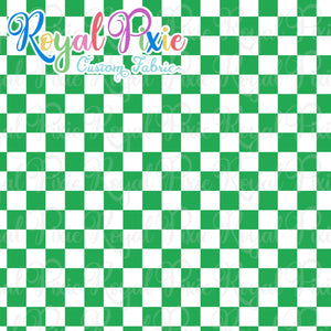 Permanent Preorder - Squares (Checkerboard) - White/Green - RP Color