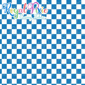 Permanent Preorder - Squares (Checkerboard) - White/Ocean - RP Color