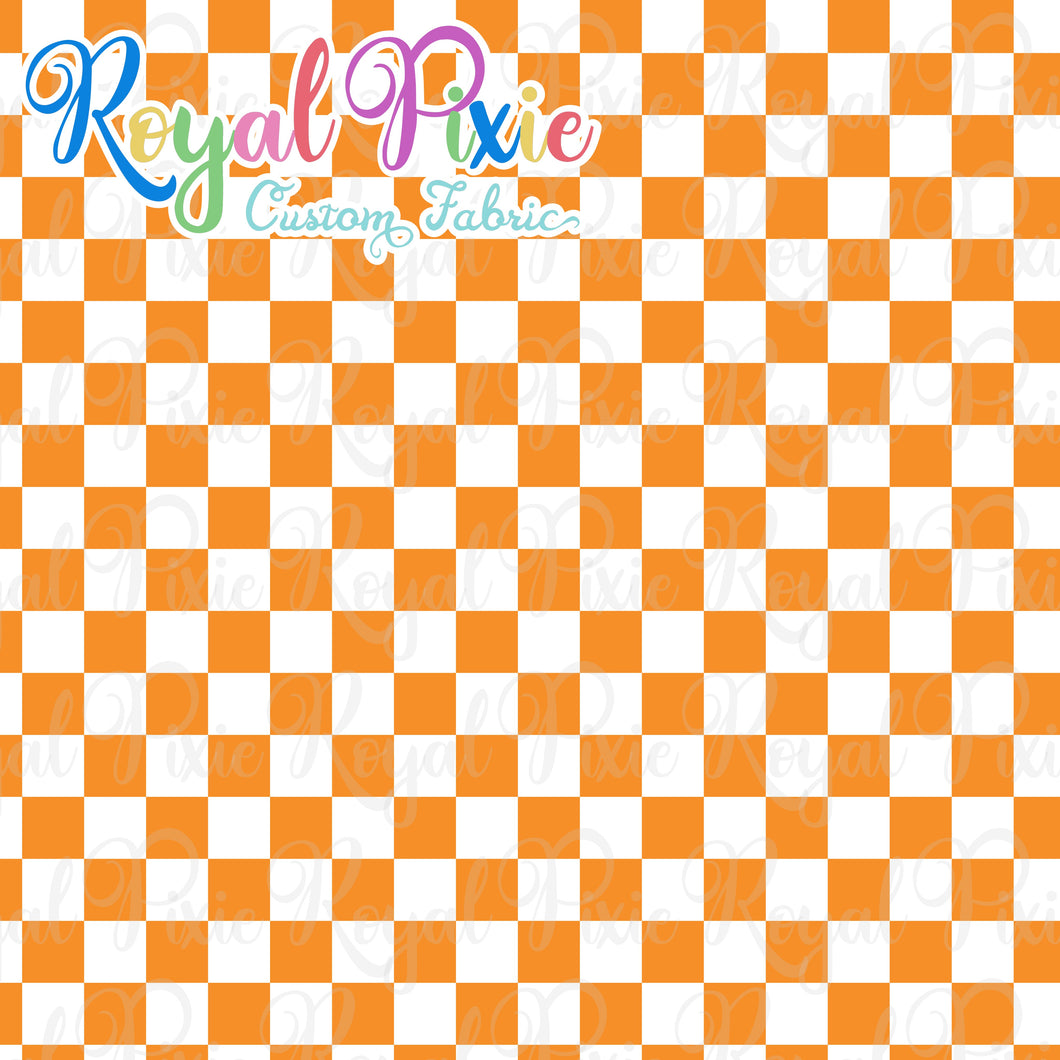 Permanent Preorder - Squares (Checkerboard) - White/Orange - RP Color