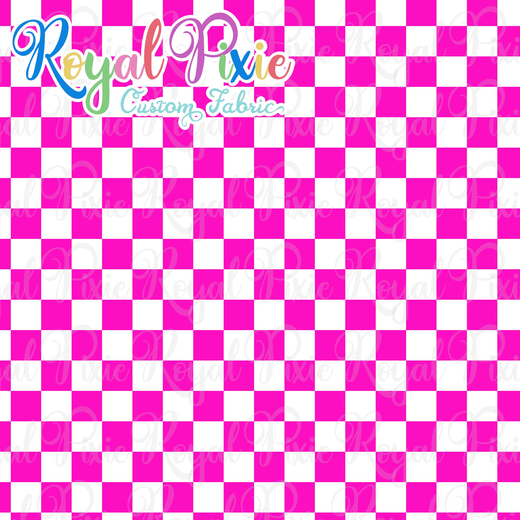 Permanent Preorder - Squares (Checkerboard) - White/Pink - RP Color