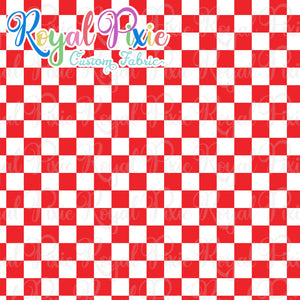 Permanent Preorder - Squares (Checkerboard) - White/Red - RP Color