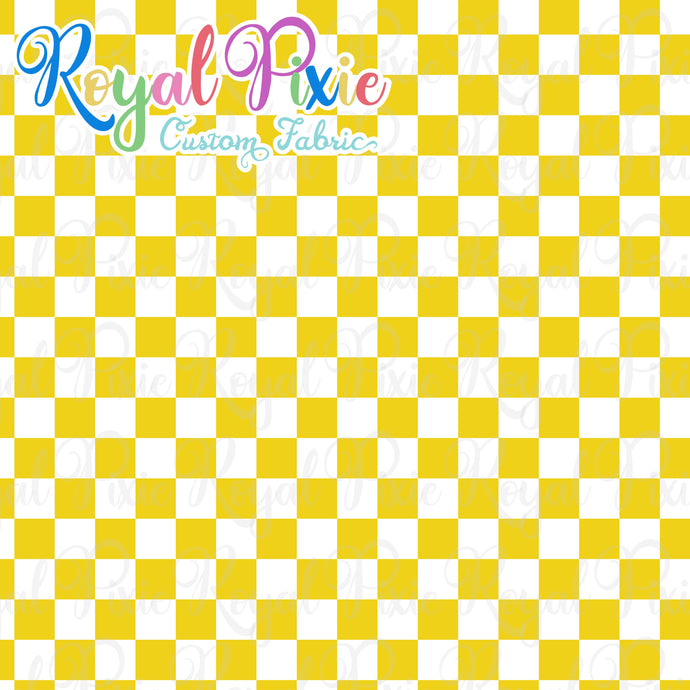 Permanent Preorder - Squares (Checkerboard) - White/Yellow - RP Color