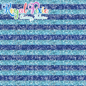 "Permanent Preorder - 1/2"" Glitter Stripes - Blues"