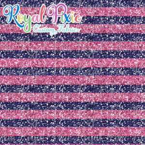 "Permanent Preorder - 1/2"" Glitter Stripes - Pink/Purple"