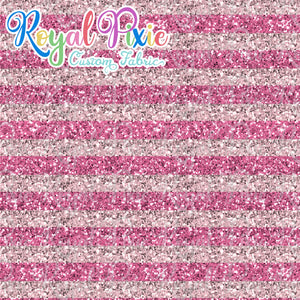 "Permanent Preorder - 1/2"" Glitter Stripes - Pinks"