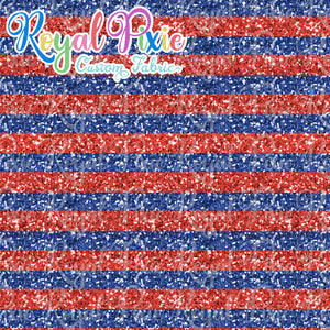 "Permanent Preorder - 1/2"" Glitter Stripes - Red/Blue"