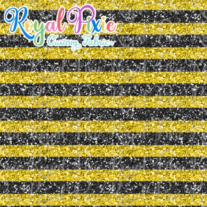 "Permanent Preorder - 1/2"" Glitter Stripes -Yellow/Black"