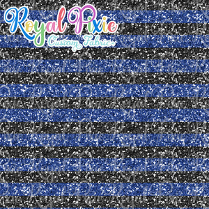 "Permanent Preorder - 1/2"" Glitter Stripes - Black/Dark Blue"