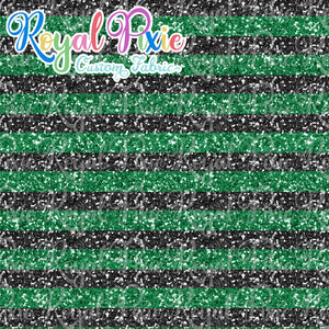 "Permanent Preorder - 1/2"" Glitter Stripes - Black/Green"
