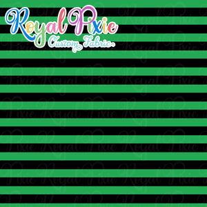 Permanent Preorder - Stripes with Black - Green - RP Color