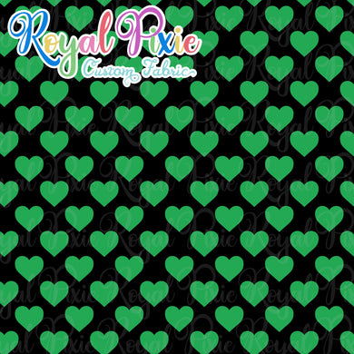 Permanent Preorder - Hearts with Black - Green - RP Color