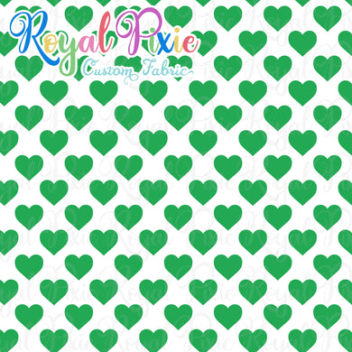 Permanent Preorder - Hearts with White - Green - RP Color