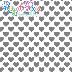 Permanent Preorder - Hearts with White - Grey - RP Color