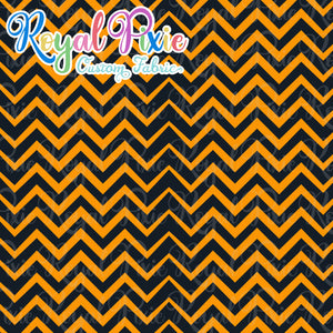 Permanent Preorder - Holidays - Halloween Orange & Black Chevron