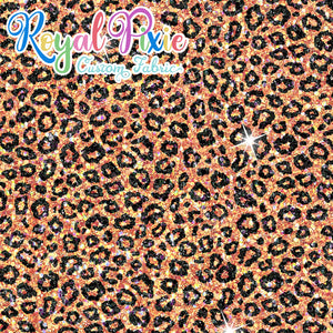 Permanent Preorder - Coords - Animal Prints - Glitter Leopard Orange