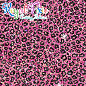 Permanent Preorder - Coords - Animal Prints - Glitter Leopard Pink