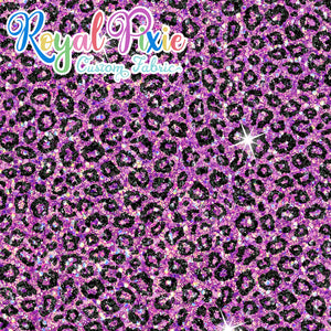 Permanent Preorder - Coords - Animal Prints - Glitter Leopard Purple