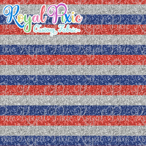 "Permanent Preorder - Glitter Stripes - Thin 1/2"" Stripe Americana"