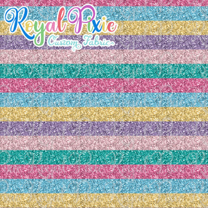 "Permanent Preorder - Glitter Stripes - Thin 1/2"" Stripe Pastels"