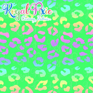 Permanent Preorder - Coords - Animal Prints - Neon Leopard Rainbow Green