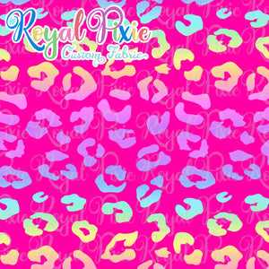 Permanent Preorder - Coords - Animal Prints - Neon Leopard Rainbow Pink