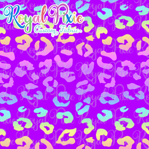 Retail Neon Leopard Purple CL - Large Scale