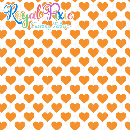 Permanent Preorder - Hearts with White - Orange - RP Color