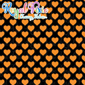 Permanent Preorder - Hearts with Black - Orange - RP Color