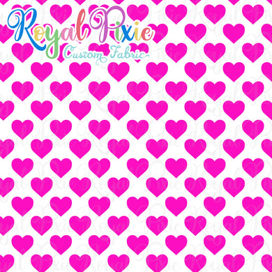 Permanent Preorder - Hearts with White - Pink - RP Color