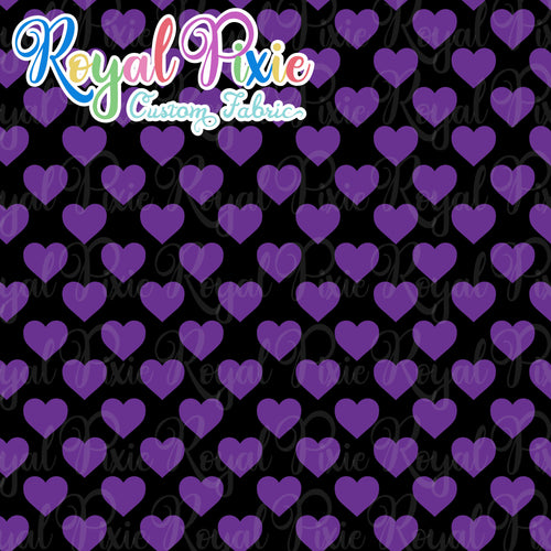 Permanent Preorder - Hearts with Black - Purple - RP Color