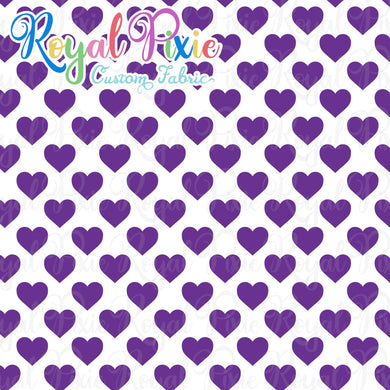 Permanent Preorder - Hearts with White - Purple - RP Color