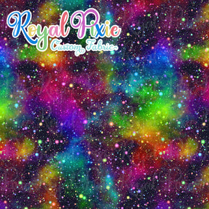 Retail Rainbow Galaxy Cotton Woven
