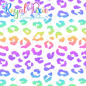 Permanent Preorder - Coords - Animal Prints - Rainbow Leopard White