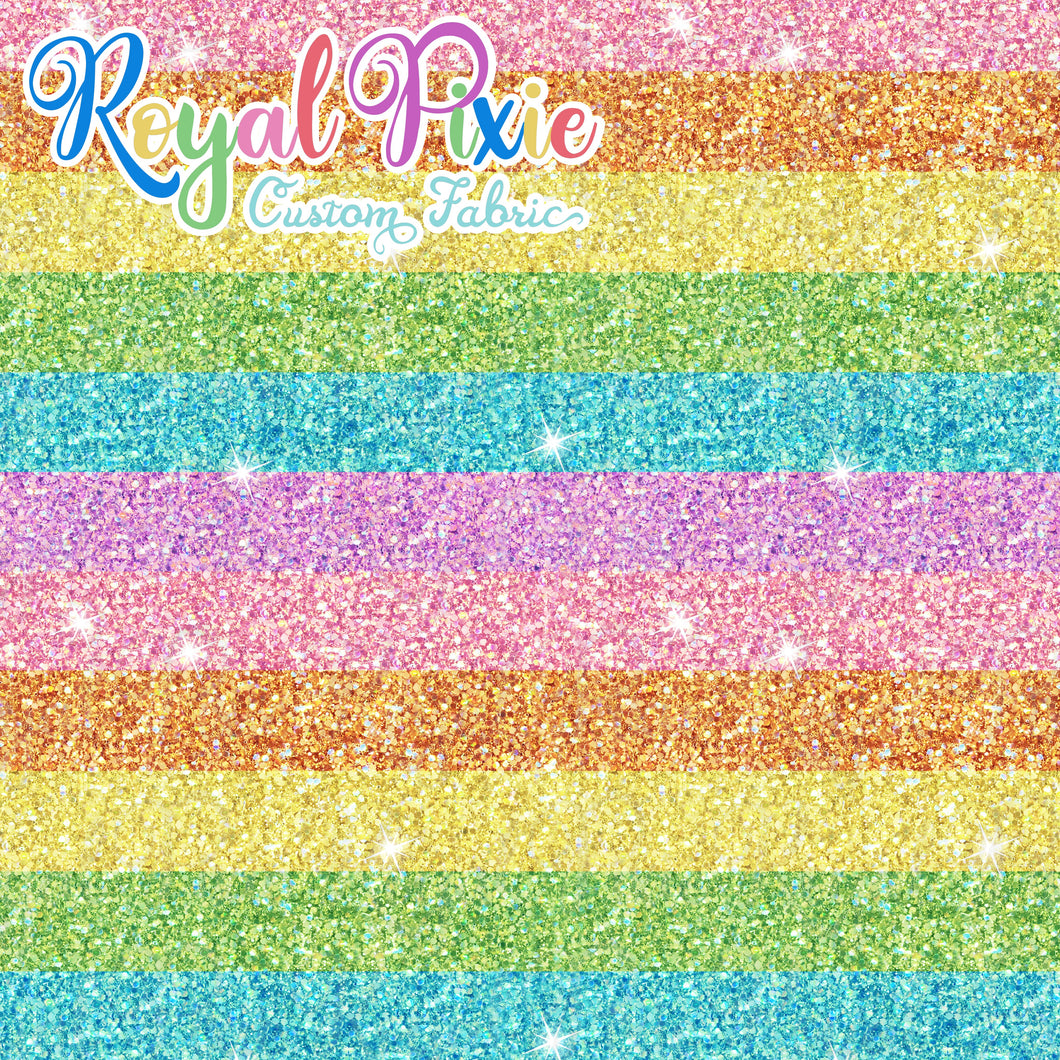 Permanent Preorder - Starry Glitters - Rainbow Pastel Stripes