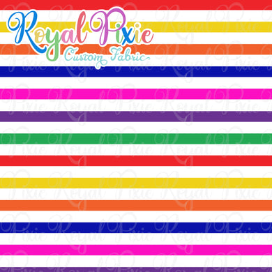 Permanent Preorder - Stripes with White - Rainbow - RP Color