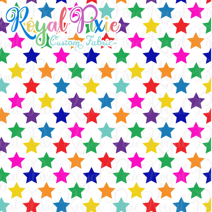 Permanent Preorder - Stars with White - Rainbow All Colors - RP Color