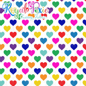 Permanent Preorder - Hearts with White - Rainbow All Colors - RP Color