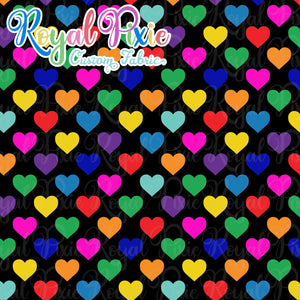 Permanent Preorder - Hearts with Black - Rainbow All Colors - RP Color