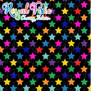 Permanent Preorder - Stars with Black - Rainbow All Colors - RP Color