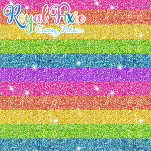 Permanent Preorder - Starry Glitters - Rainbow Bright Stripes